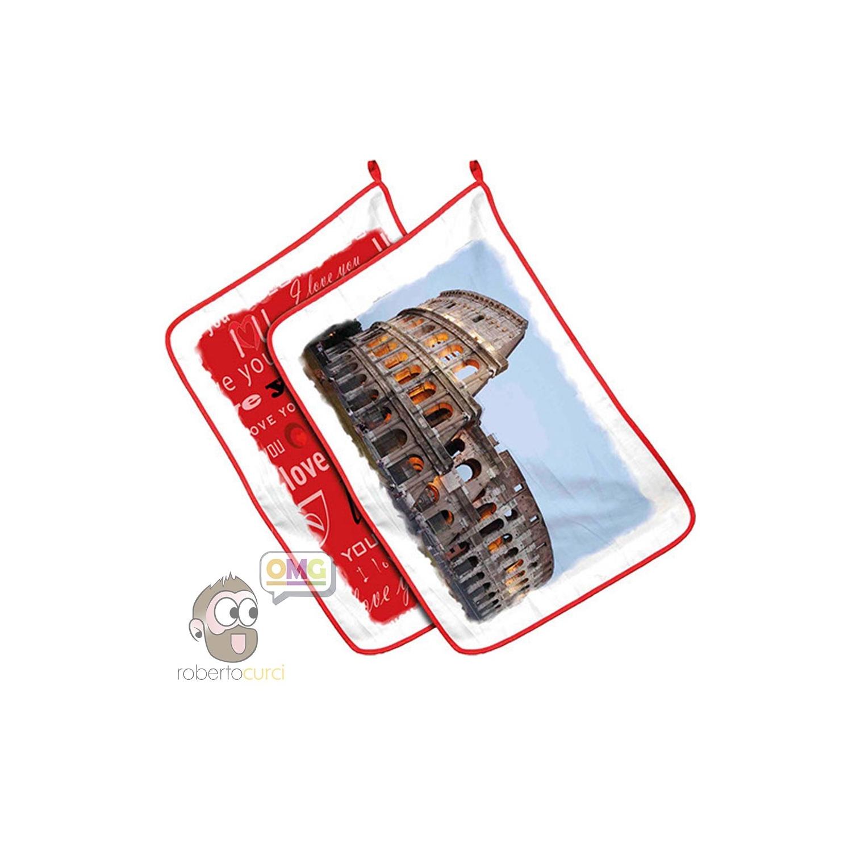 Strofinaccio per Cucina Personalizzato con foto 35x50 cm Idea Regalo Poliestere