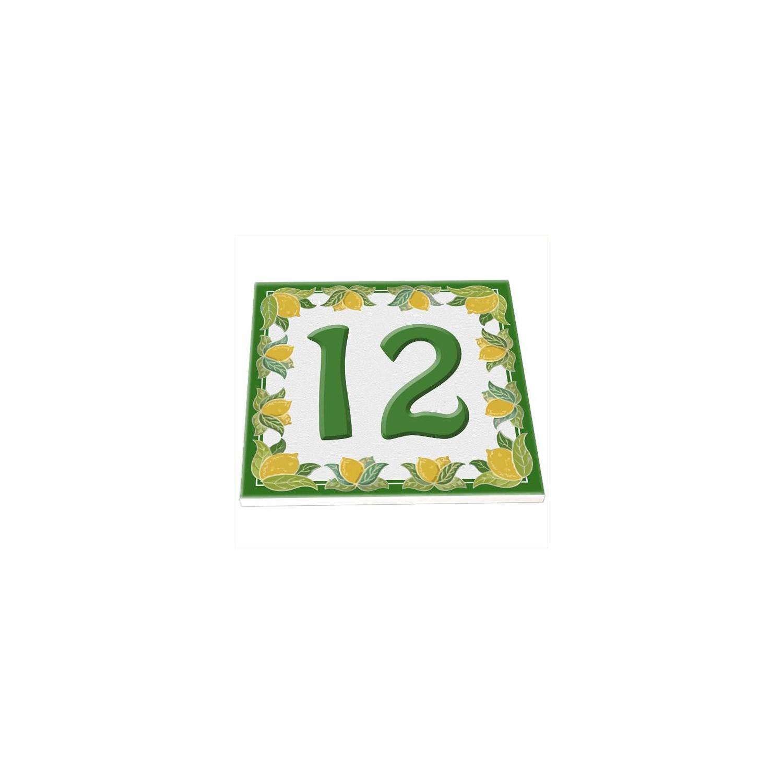 Mattonella Numero Civico Personalizzata