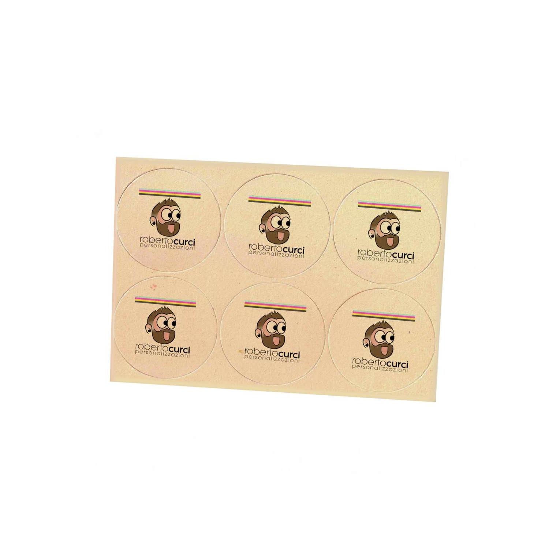 Sottobicchieri Tondi in cartone Personalizzati su due lati 10x10cm (6 Pezzi)