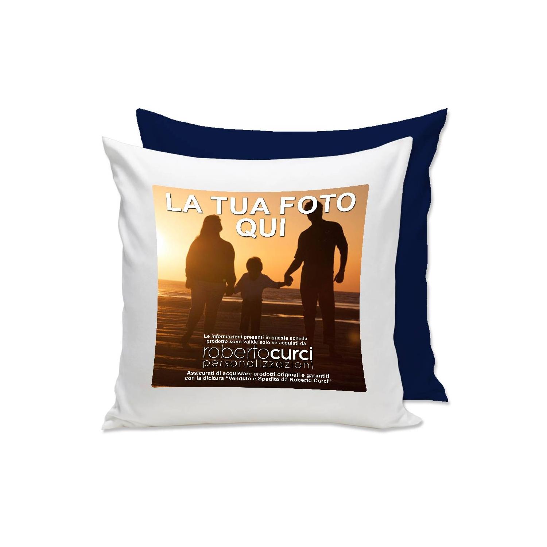 Cuscino Personalizzato con retro Blu Scuro