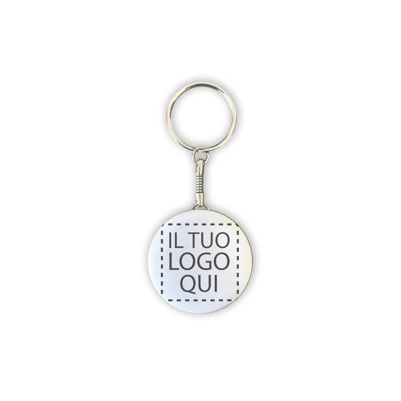 Portachiavi Tondo da 4,5 cm Personalizzato con logo