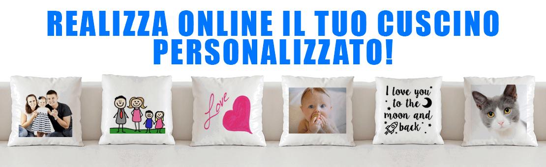Crea il tuo cuscino personalizzato online